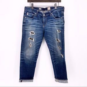 Ag Adriano Goldschmied Crop Distressed Jeans 31